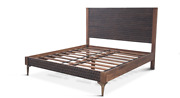 88 L King Bed Hand Carved Detail Head And Foot Boards Solid Mango Wood Modern