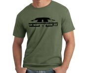 Mens Military Green Cotton Summer Tshirts Chevrolet Chevelle Muscle Cars