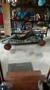 Soap Box Racer Car Antique Early 1950 S Race Track Gravity Hill Roller Vintage