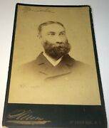 Rare Antique Famous German American Wine Importer Occupational Ny Cabinet Photo