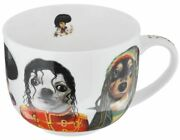 Mug Gift'n'home Star Dogs. Famous Faces 500 Ml Cup M. Jackson B. Marley Elvis