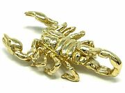 14k Yellow Gold Scorpion Pendant Insect Charm 1.15 5.7 Grams