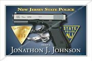 Police,new,jersey,state,patrol,trooper,highway,retirement,badge,gift