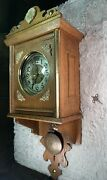 Vtg Ww2 Germany Imported Wall Clock Broken. For Parts As Is.