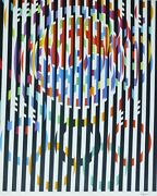 Yaacov Agam Message Of Peace Hand Signed Silkscreen From Olympic Suite 1988