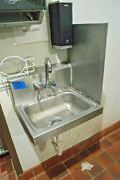 Salvaged Stainless Steel Hand Washing Or Bar Sink, Advance Tabco, Commercial