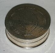 Sterling Silver Vintage Georgian Antique Small Round Pill Box