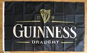 Guinness Draught Beer Logo 3x5 Garage Banner Flag Man Cave Germany Free Shipping