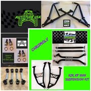 2014-17 Chromoly Arched Upper/lower A-arms Radius Rods Xp1k Rzrxp 1000 2/4 Black