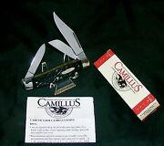 Camillus 884 Knife Black Stag Appearance Stockman Circa-1980 W/packagingpapers