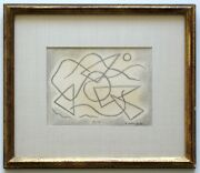 Abraham Walkowitz 1915 Iconic Abstract Hand Signed Unique Pencil Drawing Framed