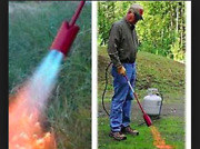 Outdoor Camping Farm Use Red Max Weed Burner Torch Kit 100g 100,000-btu