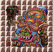 Feedback From Beyond By Chris Dyer Blotter Art Perforated Paper Psychedelic Art