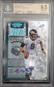 Bgs 9.5 2012 Contenders Nick Foles 13/20 Cracked Ice Rc Ticket Auto 10 W/2x 10s