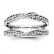 1/4 Ct Natural Diamond Solitaire Engagement Ring Guard Enhancer 14k White Gold