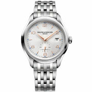 Baume And Mercier Clifton Bracelet Swiss Self-winding Automatic Menand039s Watch 10141