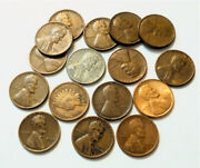 1909 And Up Lincoln Wheat Cents And Indian Head Penny Steel 1957 Bu Etc.lot