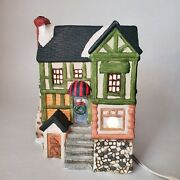 Handpainted Porcelain House - Vintage Dickens Collectables - Towne Series - 1995