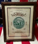Vintage 1890s Ben Hur Bicycles March Sheet Music Framed Central Cycle Co.antique