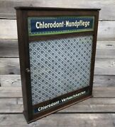 Vintage Antique Apothecary Display Cabinet Chlorodont Oral Care Germany