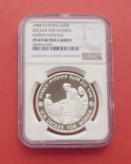 Ethiopia 1984 Decade For Women 20 Birr Proof Silver Coin Ngc Pf69uc