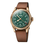 Oris 40mm Big Crown Pointer Date 80th Anniversary Automatic Green Dial Bronze