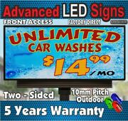 Long Life Led Sign Indoor/ Outdoor Full Color P10 Scrolling 19h X 63 - Usa
