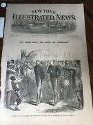 Antique 1861 Civil War Newspaper Page Soldiers Refuse Take Loyalty Oath Albany
