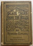 Plain Tales From The Hills By Rudyard Kipling 1st Edition 1888 Rare