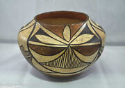 Acoma Pueblo Polychrome Pottery Olla C.1930 Early-style Concave Base 7 1/4 X 5