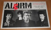 The Alarm Strength Poster 1985 Promo 35x23 New Wave Rock Mike Peters Rare
