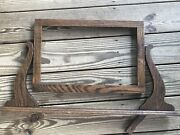 Antique Dresser Washstand Top Wood Mirror Frame 29andrdquox16andrdquo Roughly