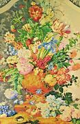Great Tapestry. Floral Composition. Cotton . France .principle Xx Century