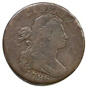 1796 S-95 R-5+ Draped Bust Large Cent Coin 1c
