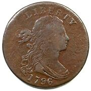 1796 S-105 R5- Draped Bust Large Cent Coin 1c