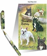 New French Bulldog Designer Roller Ink Ball Pen - 50 Pens - By Ruth Maystead