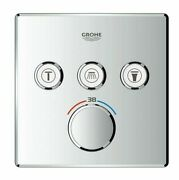 Grohe Smartcontrol Concealed Thermostat For Shower 158mm 3-button Square Chrome