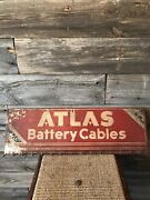 Vintage Atlas Battery Cables Sign
