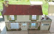 Vintage 1950s Marx Tin / Metal Doll House Includes Disney Room + 18 Accessories