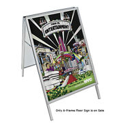 Metal 2 Sided Snap A-frame Floor Sign In Silver 30w X 40h Inches