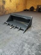New 70 Skid Steer Dirt Bucket With Teeth Fits Older Mustang Attachment