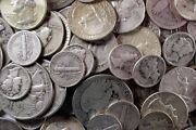 1 Troy Ounce 90 Silver Junk Coins , 1 Half Dollar Included