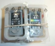 Genuine Oem Canon Pg-40 Black And Cl-41 Color Ink Bulk Packaging Free Shipping