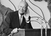 President Eisenhower Glossy Poster Picture Photo Dwight D Ike Black And White 1024