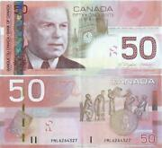Canadian 50 Dollar Bill Glossy Poster Picture Photo Money Currency Canada Ca 643