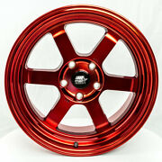 Mst Time Attack 17x9 +20 5x114.3 Red 240sx Mazda3 Tsx Is300 Lancer Xb Rx7