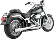 Vance And Hines Pro Pipe 2-1 Chrome Harley Davidson Fxst Flst 86-11 Ships Free