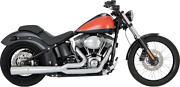 Vance And Hines Pro Pipe 2-1 Chrome Harley Davidson Fxst Flst 12-17 Ships Free