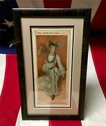 Vintage 1903 The Horse Show Girl Art Print By R.f. Outcault Framed Antique Nice