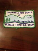 Vintage Girl Scout Tarheel Triad Council Summer Camp Patch Discover New World